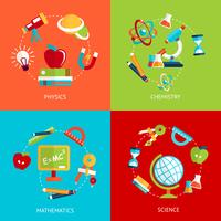 Icônes de l'éducation à plat