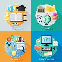 Concept d'éducation d'entreprise vecteur