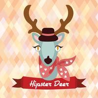 Affiche de cerfs hipster vecteur