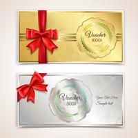 Modèle de chèques cadeaux vecteur