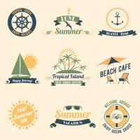 Étiquettes rétro mer d'été