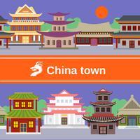 La Chine à la frontière tiled vecteur