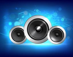 Concept de musique audio haut-parleur