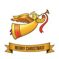 Icône d'ange de Noël vecteur