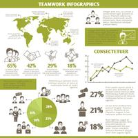 Infographie de travail d'équipe