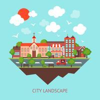 Fond de paysage urbain vecteur