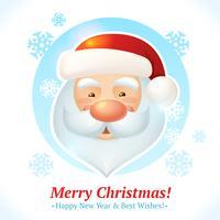 Carte de santa de Noël vecteur