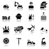 Icônes de l'industrie du charbon vecteur