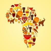 Modèle sans couture de l'Afrique