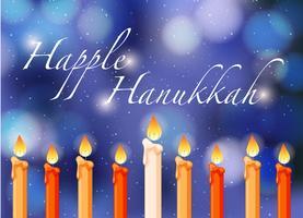 Heureux thème Hannukkah avec des bougies
