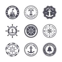 Jeu d'étiquettes de port maritime