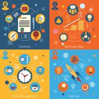 Ensemble de concepts web modernes vecteur