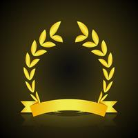 Fond sombre couronne d'or