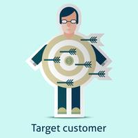 Concept client cible vecteur
