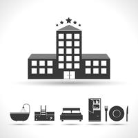 Concept hôtelier cinq étoiles vecteur