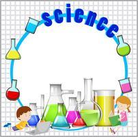 Design de frontière avec équipement scientifique