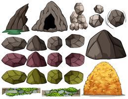 Des pierres vecteur