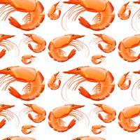 Design de fond sans couture aux crevettes vecteur