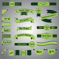 Ensemble ruban vert discount vecteur