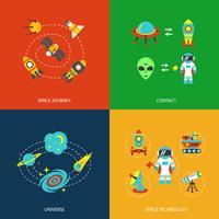 Infographie des icônes de l'espace