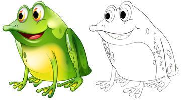 Contour des animaux pour la grenouille assis vecteur