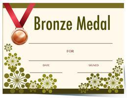 Modèle de médaille de bronze vecteur