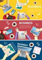 Conception infographique pour les gens d'affaires travaillant