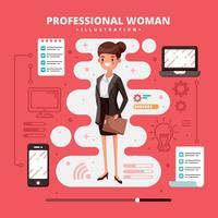 Femme professionnelle vecteur