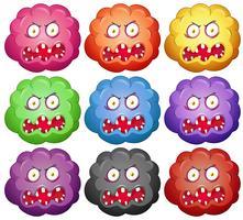 Germ avec des visages de monstres