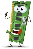 Caractère de la carte mémoire RAM vecteur