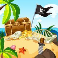 Une île pleine de trésors et de coffres