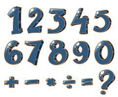 Chiffres numériques et opérations mathématiques vecteur