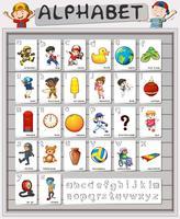 Conception d'affiche pour les alphabets anglais vecteur