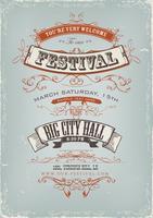 Affiche d'invitation au festival grunge vecteur