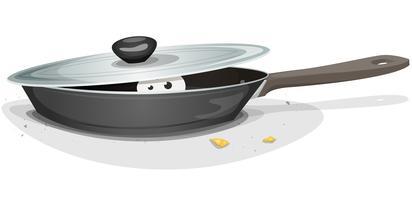 Souris ou chat à l'intérieur du poêle de cuisine
