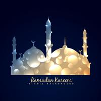 arrière-plan de conception de mosquée brillante vecteur