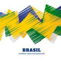 match de football brésilien vecteur