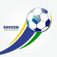 match de football de vecteur