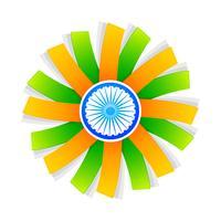 design de style drapeau indien avec roue