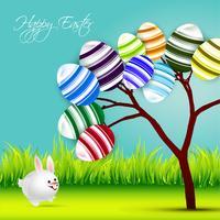 conception de bannière de Pâques