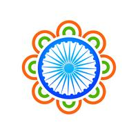 drapeau indien design concept illustration vecteur