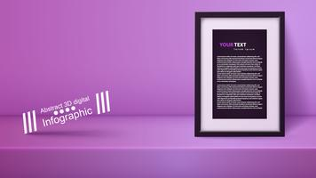 Modèle vide studio violet, photostudio, salle.