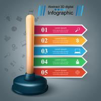 Plongeur 3d réaliste. Infographie de l'entreprise.