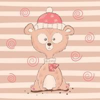 Personnages mignons et drôles d'ours de dessin animé.