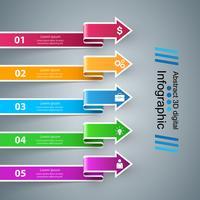 Icônes infographiques. Icône de flèches.