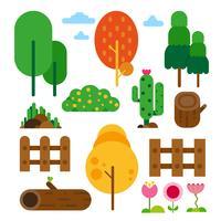 conception de collection d'arbres vecteur