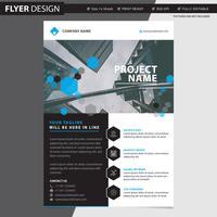Conception de flyer ou brochure professionnelle, illustration vectorielle abstraite