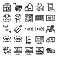 Pack d'icônes retail vecteur