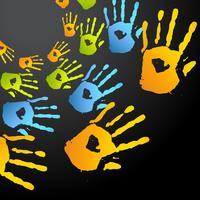 vecteur coloré mains