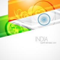 drapeau indien artistique